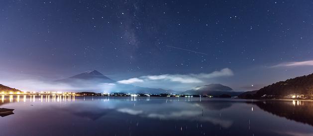 Starry sky「Mt.Fuji Japan Mountain Night starry sky Milky way」:スマホ壁紙(0)