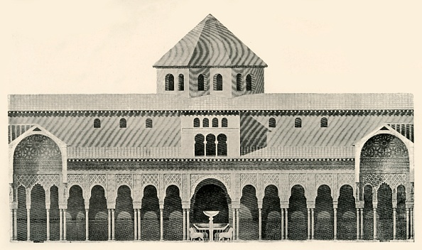 UNESCO「Side Elevation Of The Court Of The Lions And Fountain」:写真・画像(16)[壁紙.com]