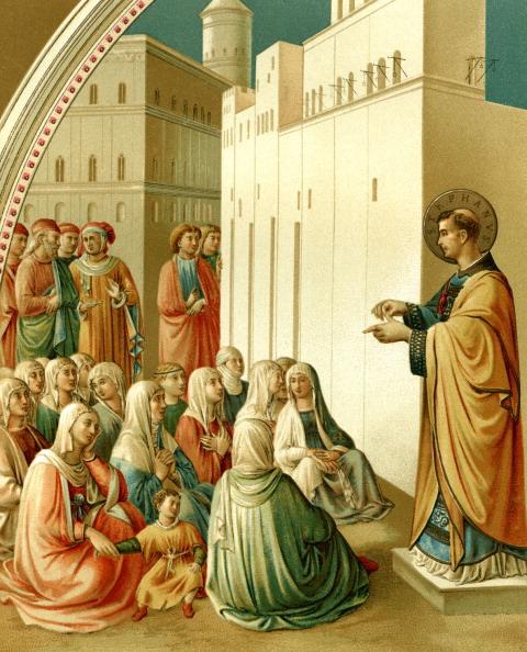 Religious Saint「St. Stephen preaching」:写真・画像(6)[壁紙.com]