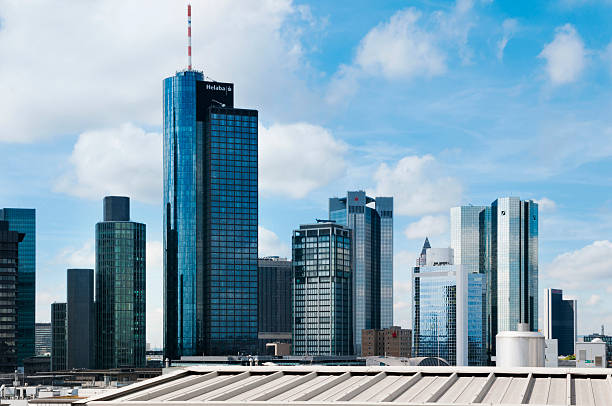 Germany, Hesse, Frankfurt, View of the financial district:スマホ壁紙(壁紙.com)