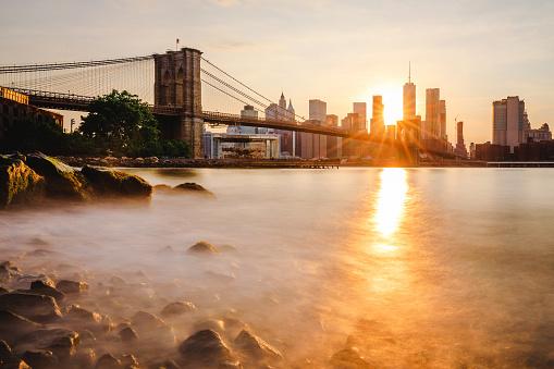 波「ブルックリン橋公園」:スマホ壁紙(3)