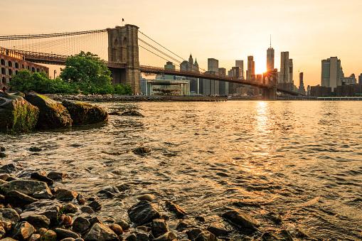 波「ブルックリン橋公園」:スマホ壁紙(4)