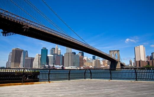 Brooklyn - New York「Brooklyn Bridge and Lower Manhattan Skyline, Brooklyn, New York City, New York, USA」:スマホ壁紙(12)