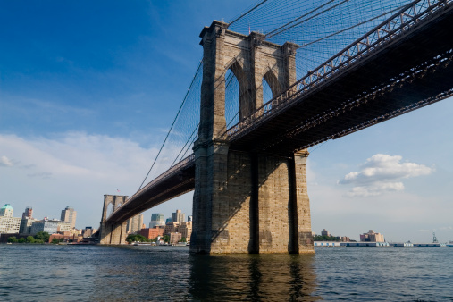 1870-1879「Brooklyn Bridge New York and East River」:スマホ壁紙(12)