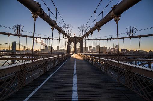 Footbridge「Brooklyn bridge, New York, America, USA」:スマホ壁紙(9)