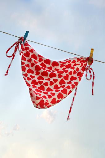 水着「Bikini bottoms hanging on a clothes line」:スマホ壁紙(15)