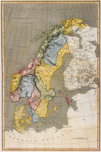 Latitude「Map of Sweden with Denmark and Norway」:スマホ壁紙(5)