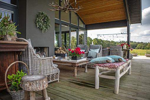 Dutch Culture「A dutch house with a deck and garden」:スマホ壁紙(10)