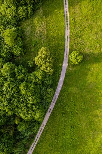 Hungary「dirt road arial view」:スマホ壁紙(11)