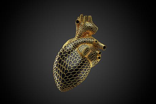 Heart「Voronoi Herz gold -quer」:スマホ壁紙(5)