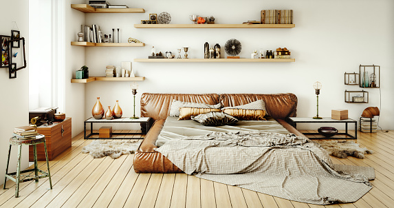 Brown「Warm and Cozy Home Interior」:スマホ壁紙(18)