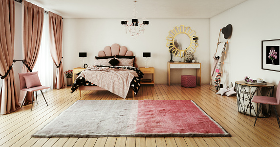Pink Color「Warm and Cozy Bedroom」:スマホ壁紙(5)