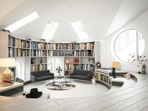 Loft Apartment「Warm and Cozy Attic Interior」:スマホ壁紙(17)