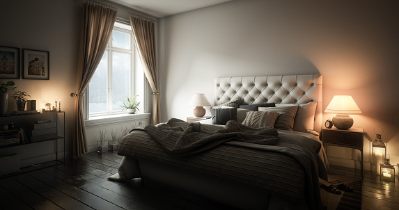 Curtain「Warm and Cozy Master Bedroom」:スマホ壁紙(2)