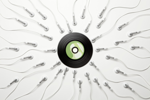 Sexual Issues「Music madness. Sex sperm vinyl creativity headphones」:スマホ壁紙(6)