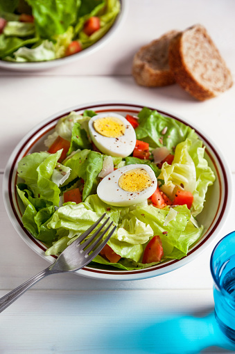 Salad「dietary salad with boiled eggs and seeds」:スマホ壁紙(1)