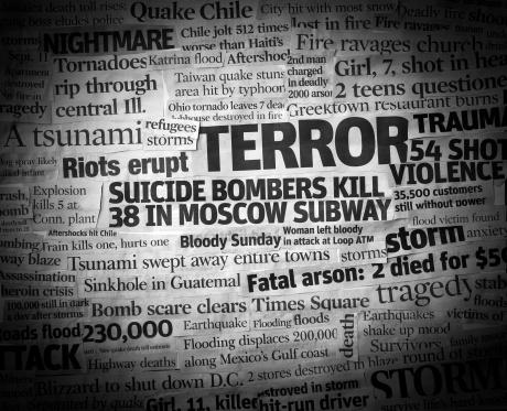 Bombing「Terror Headline Collage」:スマホ壁紙(18)