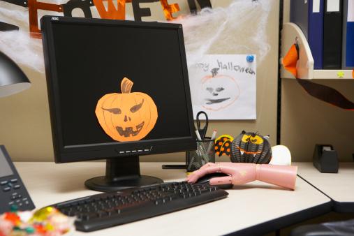 ハロウィン かぼちゃ「Cabin of office」:スマホ壁紙(8)