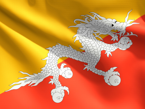 Dragon「Close Up Flag - Bhutan」:スマホ壁紙(0)
