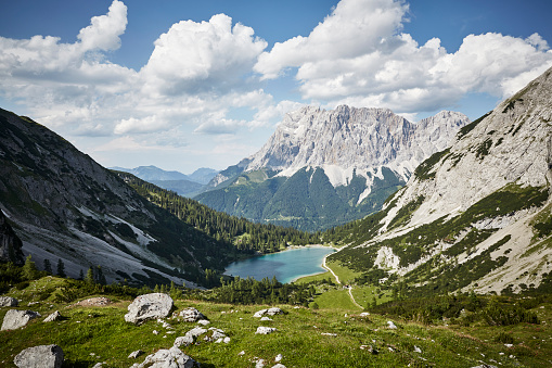European Alps「Mountain Panorama with Zugspitze」:スマホ壁紙(2)