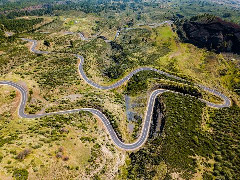 Hairpin Curve「Mountain pass road in Tenerife, Canary island」:スマホ壁紙(6)