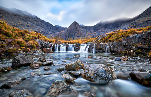 Cliff「Fairy Pools, Glen Brittle, Isle of Skye, Scotland, UK」:スマホ壁紙(15)