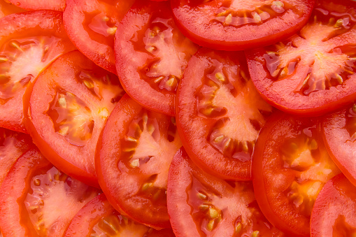 Vegetable「Pile of sliced red tomatoes」:スマホ壁紙(14)
