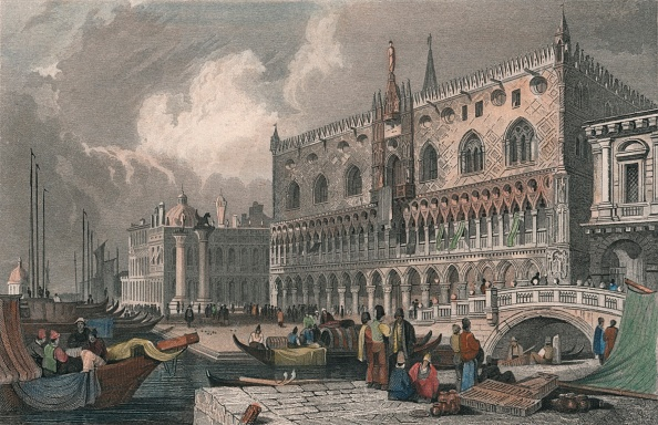 Circa 15th Century「The Grand Canal & Doges Palace」:写真・画像(5)[壁紙.com]
