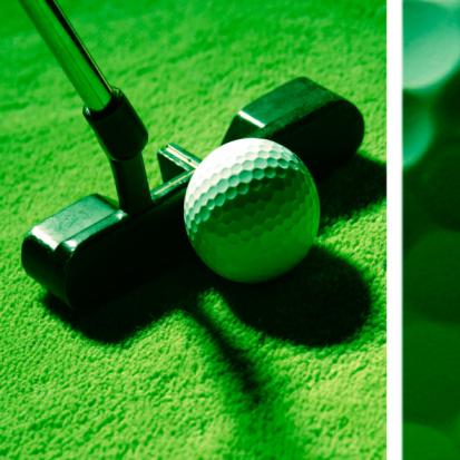 Putting - Golf「Golf ball and putter」:スマホ壁紙(11)