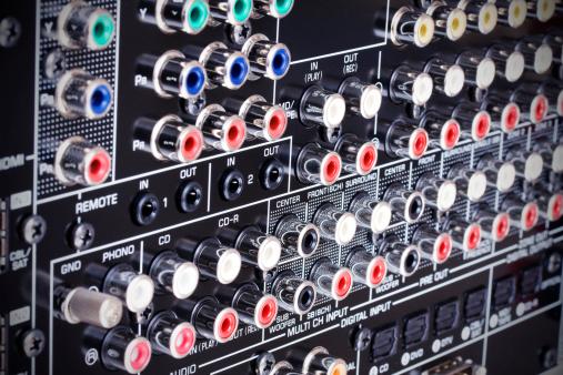 Surround Sound「Hi-Tech AV receiver's connectors」:スマホ壁紙(17)
