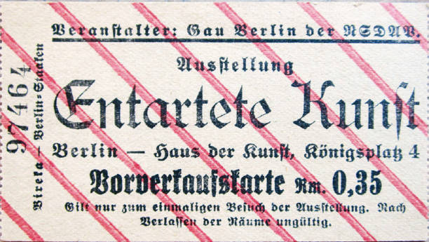 Ticket To The Exhibition Degenerate Art In Berlin:ニュース(壁紙.com)