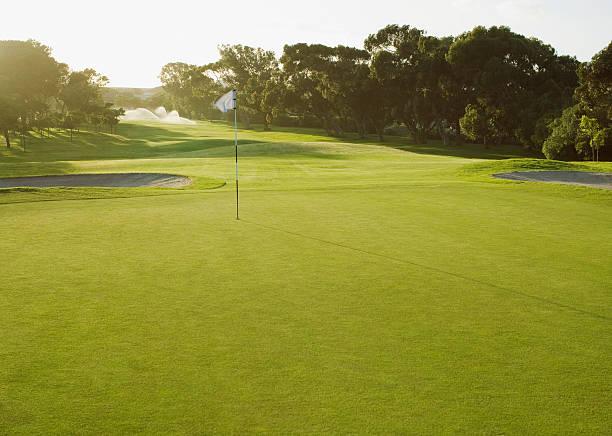 Flag on putting green of golf course:スマホ壁紙(壁紙.com)