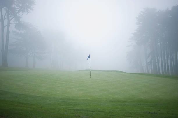 Flag on putting green on golf course:スマホ壁紙(壁紙.com)