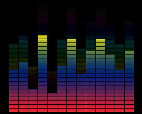 波「活気あふれる音楽」:スマホ壁紙(12)