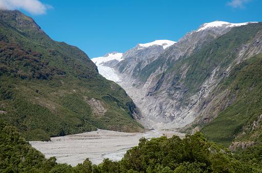 Westland - South Island New Zealand「View over Hokitika Gorge to Franz Josef Glacier.」:スマホ壁紙(14)