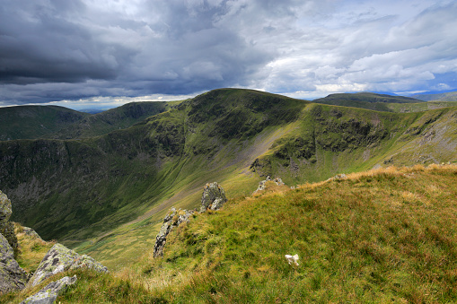 自然の景観「View over High Street fell, Lake District National Park」:スマホ壁紙(18)
