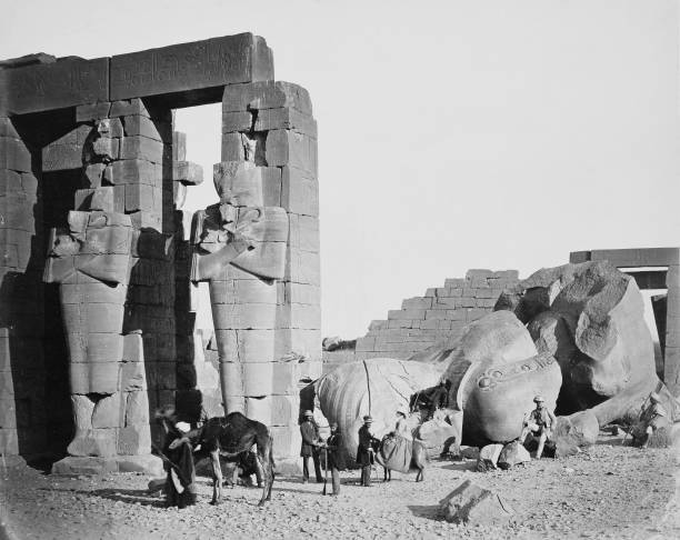 The Ramesseum Thebes Egypt 1858:ニュース(壁紙.com)