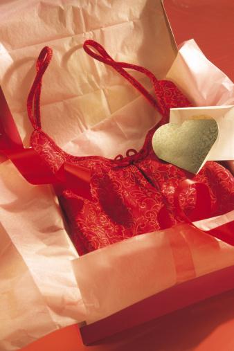 バレンタイン「Lingerie in gift box」:スマホ壁紙(4)
