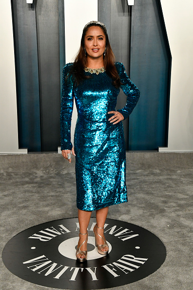 Blue Dress「2020 Vanity Fair Oscar Party Hosted By Radhika Jones - Arrivals」:写真・画像(16)[壁紙.com]