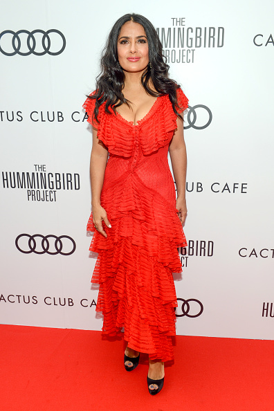 "Salma Hayek「Cactus Club Cafe And Audi Celebrate ""The Hummingbird Project"" Starring Salma Hayek, Jesse Eisenberg And Alexander Skarsgard At TIFF 2018」:写真・画像(2)[壁紙.com]"