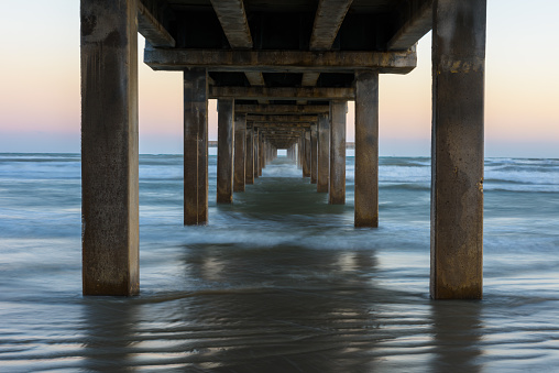 Gulf Coast States「Horace Caldwell Fishing Pier, Port Aransas, Texas, America, USA」:スマホ壁紙(7)