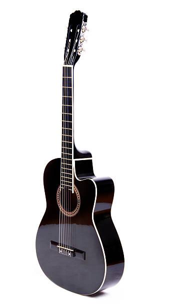 Black Acoustic Guitar:スマホ壁紙(壁紙.com)