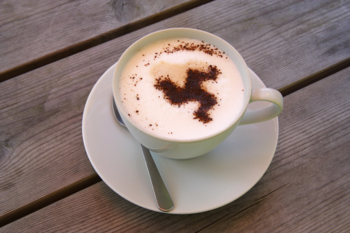 Isle of Man「Isle of Man triskelion on coffee in chocolate」:スマホ壁紙(16)