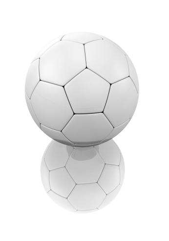 Clip Art「Render 3d of soccer ball on a white background」:スマホ壁紙(16)