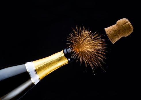 お正月「お祝いのシャンペン付き」:スマホ壁紙(3)