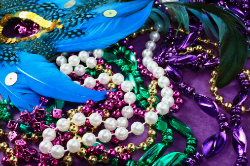 Sequin「Celebration Mask background with Beads and Feathers」:スマホ壁紙(13)