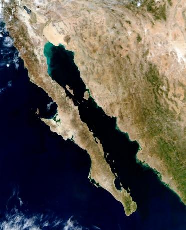 "Baja California Peninsula「""Gulf of California, satellite image""」:スマホ壁紙(19)"