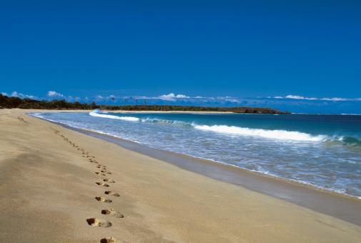 Nadi「Footprints on Natadola Beach, Fiji」:スマホ壁紙(7)