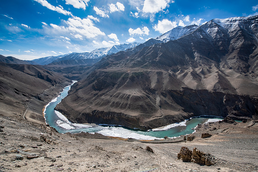Tibet「Indus River in Ladakh, Nothern India」:スマホ壁紙(15)