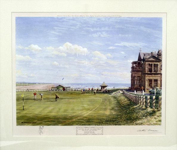 Sand Trap「Arthur Weaver, signed print of Royal and Ancient course at St Andrews, 1961. Artist: Arthur Weaver」:写真・画像(9)[壁紙.com]